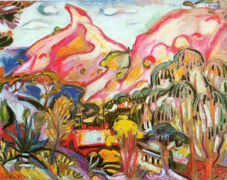 "Derian to Kandinsky--bios & info  ""Bec de l'Aigle, La Ciotat"" by Friesz"