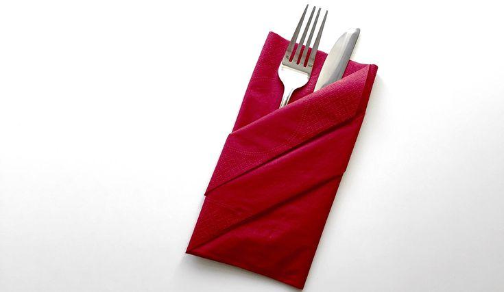 Servietten falten - Bestecktasche | How To?