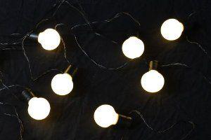 20er LED Lichterkette Partybeleuchtung warm weiß Party Beleuchtung außen Trafo