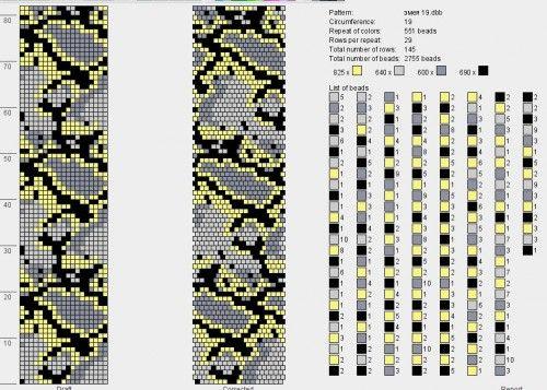 змеи : фауна : формат dbb и jbb : Схемы для вязаных жгутов : Файлы : jbead
