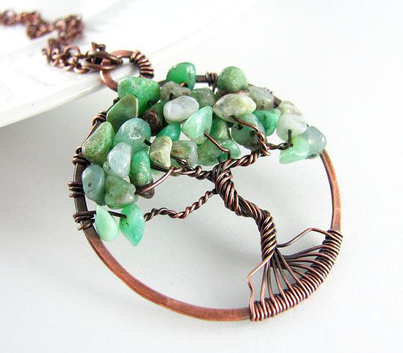 Tree of Life Wire Pendant | Tree Of Life Pendant Wire Wrapped Jewelry Australian Jade Necklace ...