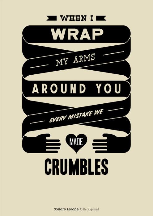 #sondrelerche #quote #quotation #type #typography #poster #tobesurprised