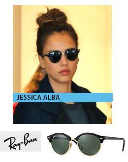 H jessica Alba με γυαλιά ηλίου Ray-Ban RB 4246 Clubround