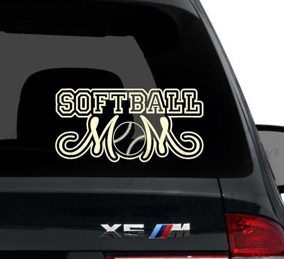 softball Mom, Wall Vinyl Decals, Wall Decal, Wall Decor, Removable Wall Decor, Apartment Wall decor, Wall Sticker, Vehicle Decals, Sports
