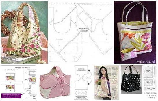 Como hacer bolsos para dama con moldes
