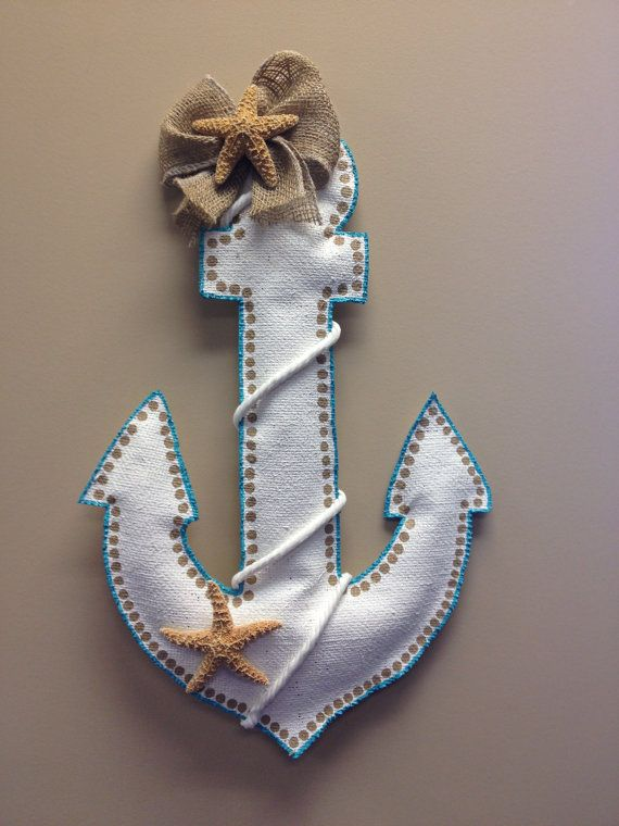 Anchor Burlap Door Hanger by ILoveItDesigns