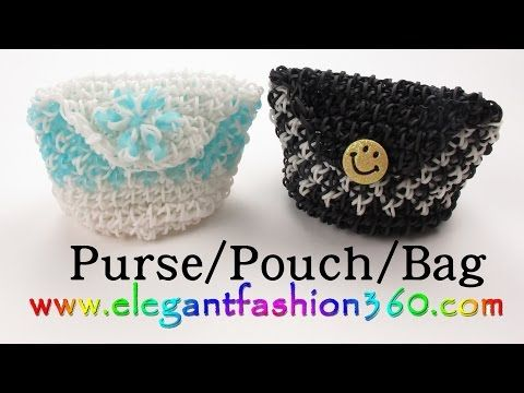 PURSE/CLUTCH. Designed and loomed by ElegantFashion360. Click photo for YouTube tutorial. 09/22/14.