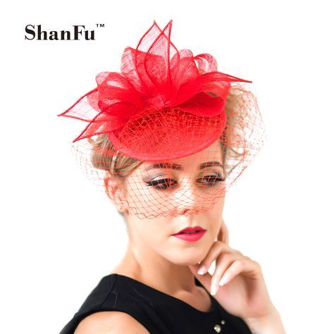 Cheap fascinator hats, Buy Quality hat elegant directly from China pillbox fascinators Suppliers: 2015 Fashion Lady Pillbox Fascinator Hat Elegant Church Hat with Birdcage Veil Cocktail Hat White Black Red Blue S