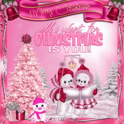 The 114 best animated christmas cards images on pinterest animated send this adorable pink christmas ecard to family and friends this season m4hsunfo