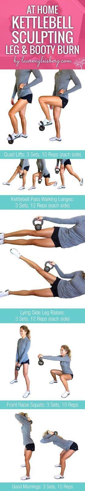 At-Home Kettlebell Leg Workout | Lauren Gleisberg | Bloglovin'
