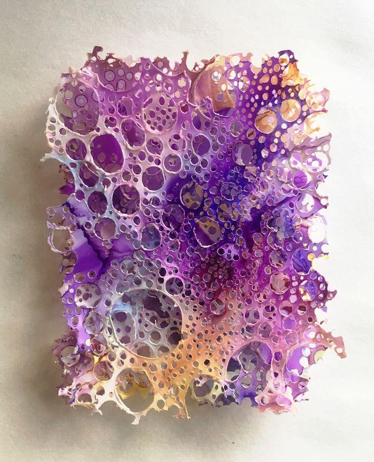 Cells - Alcohol ink on Yupo paper by Jess Kirkman - aka Manifest Jess (https://www.instagram.com/manifest.jess/)