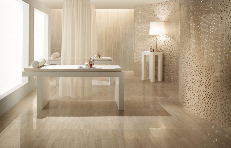 unique bathroom floor tile ideas of white color contemporary spa