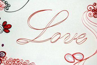 """Quadretto con scritta di carta """"Love"""" Quilling picture """"Love"""""""