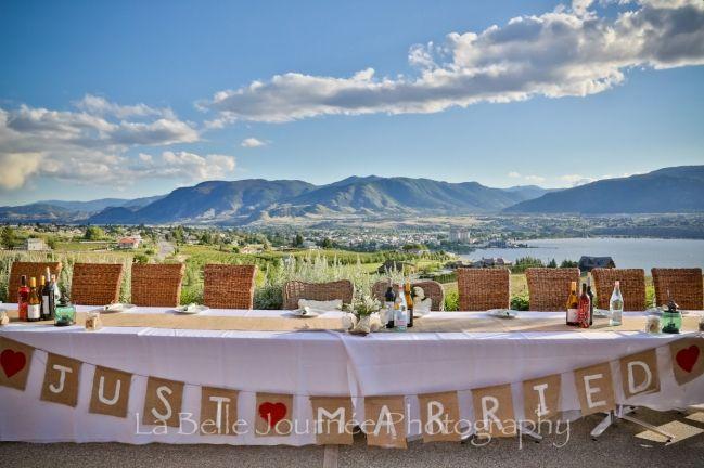 Wedding Reception at Poplar Grove Winery in Penticton, B.C.