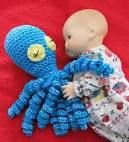 gehaakte knuffel octopus