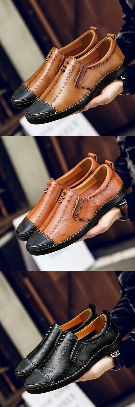 US $30.98 Prelesty Man Carved Brogue Shoes Cap Toe Oxfords Vintage