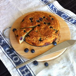 Blueberry, lime + coconut cake
