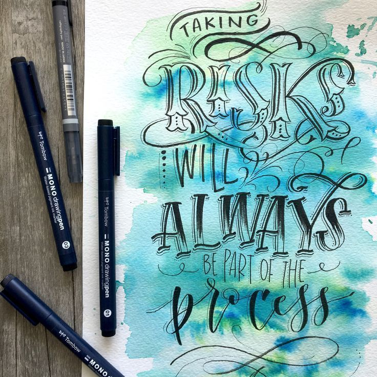 Watercolor + handlettering using @tombowusa Dual Brush Pens and MONO Drawing Pens