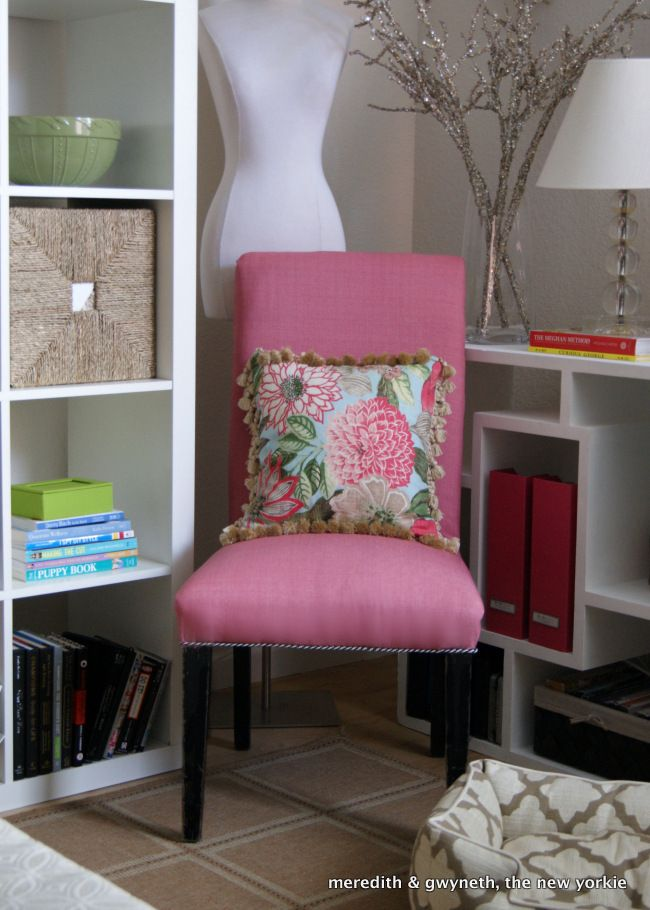 {DIY} How To Reupholster a (Dumpster Dive) Slipper Chair