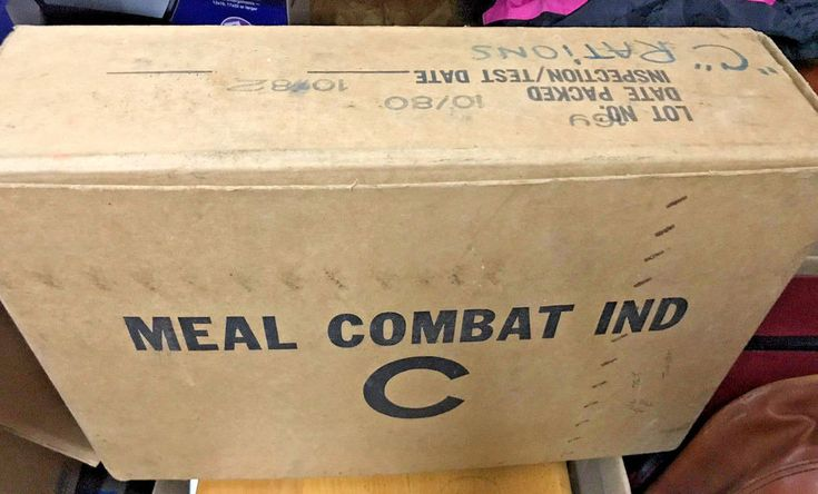 Unopened Case Of Vintage Military C-Rations Full Meals 1980 Combat Type