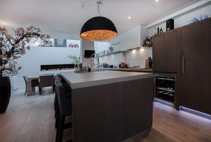 Keuken woonhuis Amsterdam Grachtengordel - door David Interieurbouw - ism Clairz