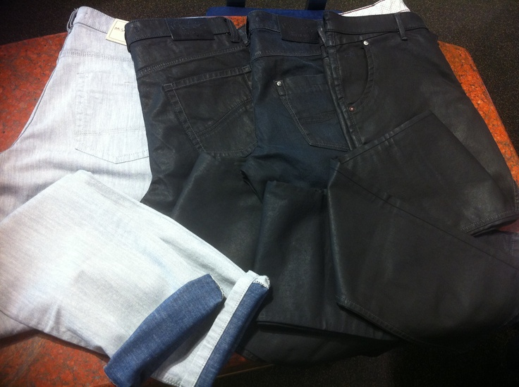 These are some of the most amazing jeans by St. Hilare. The ones on the far left have an amazing colour on the inside which makes great cuffs when you roll up the jeans. Also on the far right the pant are cut in the most brillant way, to allow for comfortable sitting. Come into Supreme and check them out!