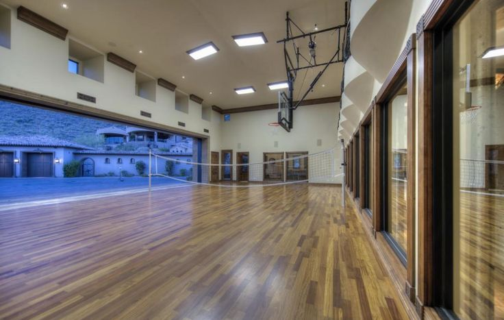 13 best images about home gym decor inspiration on for Indoor basketball court design