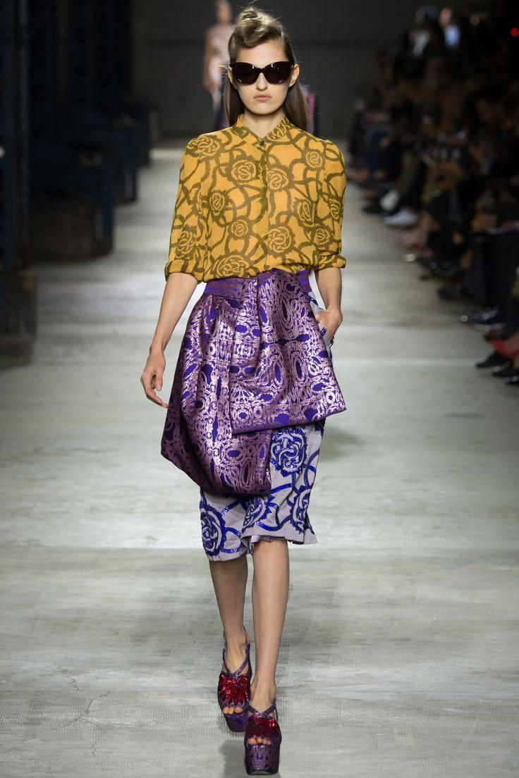 Dries Van Noten Spring 2016 Ready-to-Wear Fashion Show - Zoe Huxford (Elite)