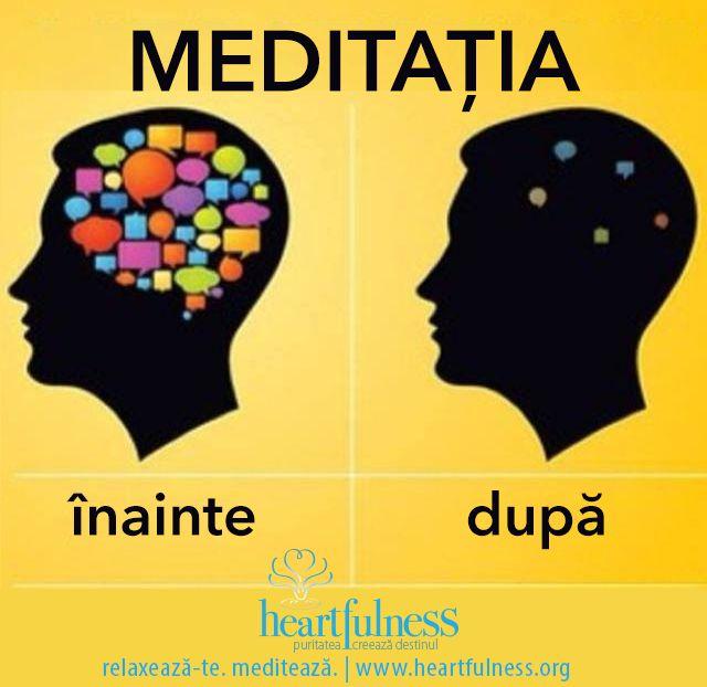 Meditația: înainte și după. #hfnro   #beneficiile_meditatiei   #heartfulness