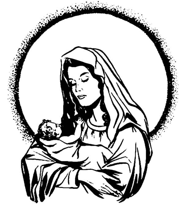 Baby Jesus Mary And Baby Jesus Coloring Page Jesus Coloring Pages Glorious Mysteries Of The Rosary Baby Jesus Coloring Pages
