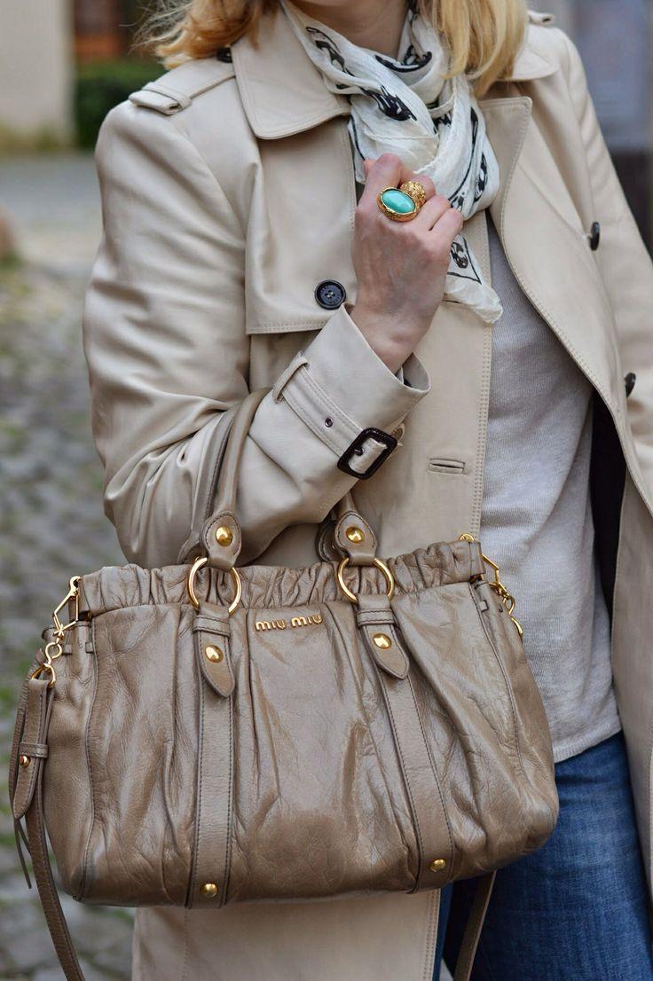 Miu miu Gathered bag and ysl Arty ring