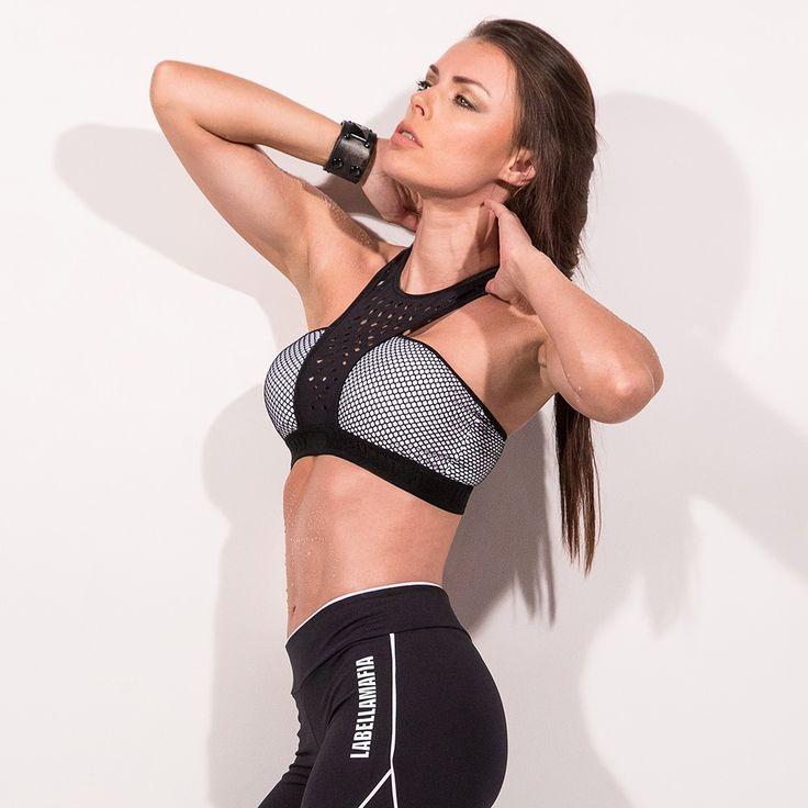 """4200₽ Топ Labellamafia """"TOP OVER GRID"""" - Одежда для фитнеса и спортзала"""