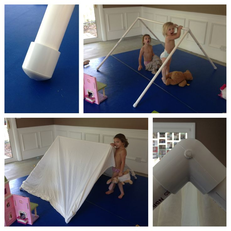 Build An Indoor Tent Out Of Pvc Pipe 4 Caps 2 Joints And