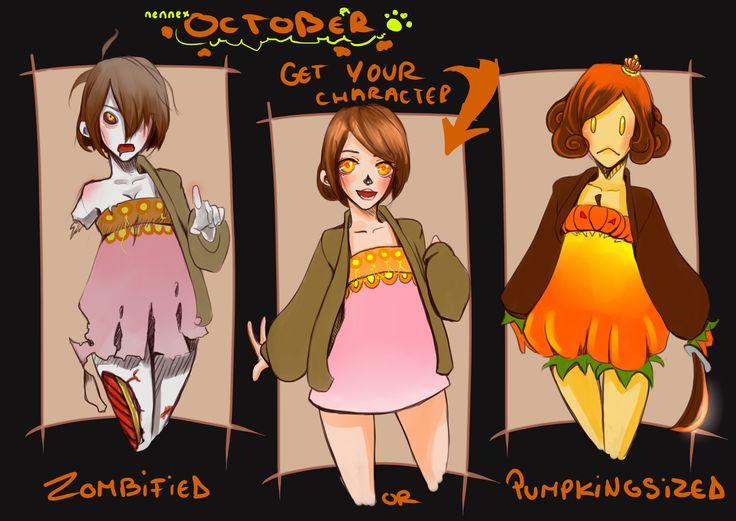 {OCT} Zombified or... Pumpkingsized by nennex.deviantart.com on @DeviantArt