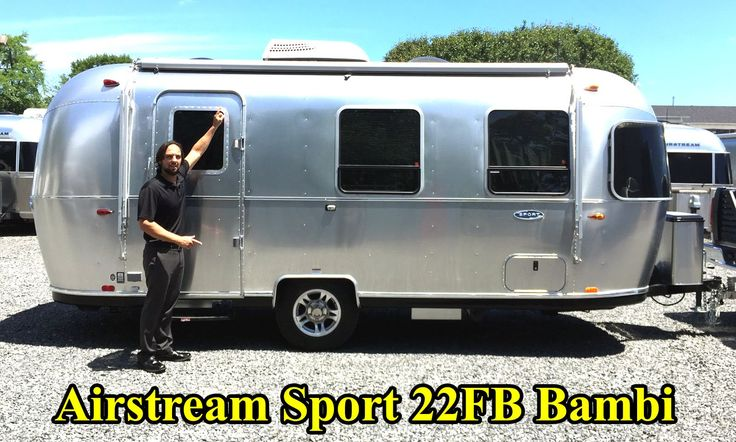 Walk Through 2017 Airstream Sport 22FB Bambi Light Weight Tiny Small Camping Travel Trailer - YouTube