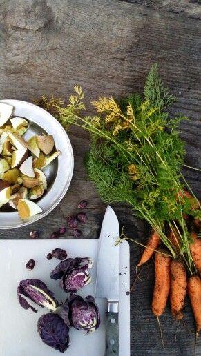 Veggies from @Mette Helbæk 's parents in Sweden. Www.stedsans.nu