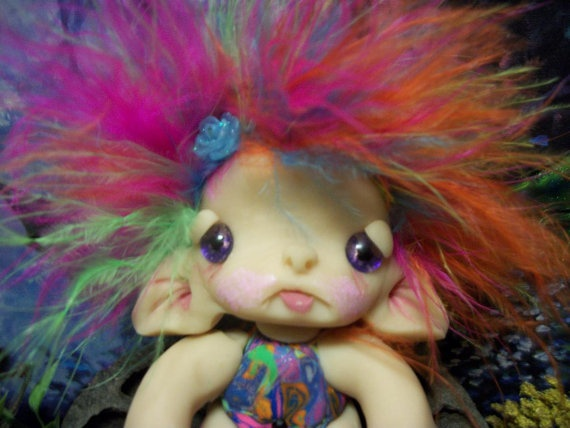 Gumdrop Trollie Fairy Fae Wing Creature Fantasy Ooak by ValerieV, $25.00- want want want!!!