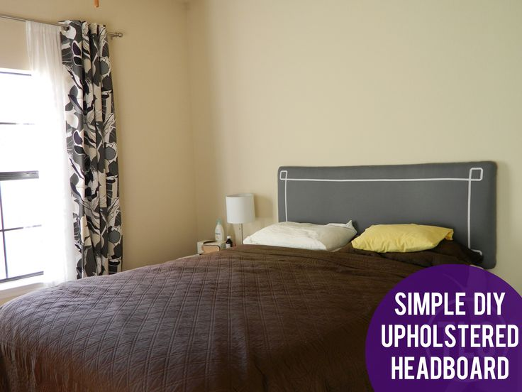 do it yourself simple upholstered headboard - Hausgemachte Kopfteile Mit Regalen