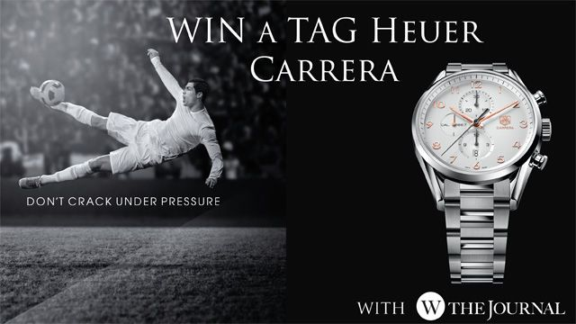 WtheJournal - Win a TAG Heuer chronograph with WtheJournal! #TAGHeuer #CristianoRonaldo #competition