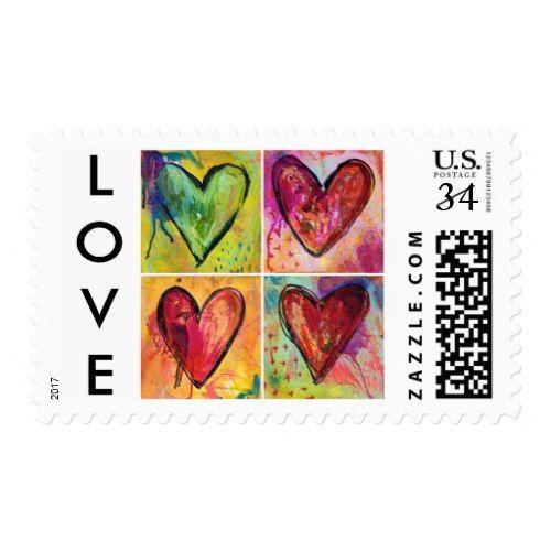 Love Wins Postage Stamp - Postcard Rate