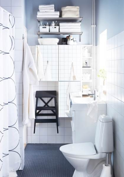 Repin if you love the addition of a conveniently hung BEKVÄM step stool in the bathroom!