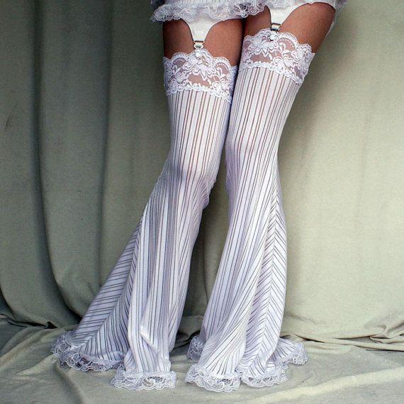 Cloud 9 Garter Pants Leg Warmers by auralynne on Etsy, $55.00