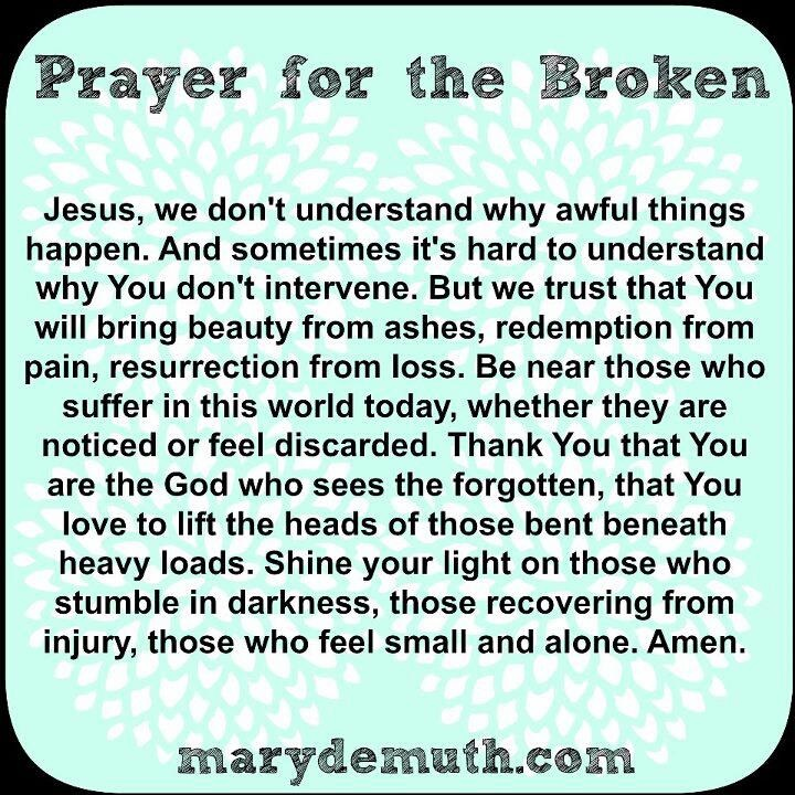 Christian prayers for healing a broken heart