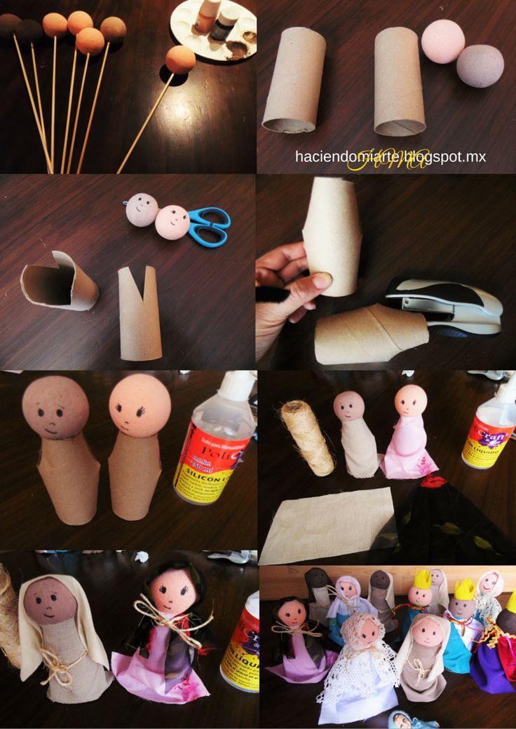 Nacimiento hecho con material reciclable. Muy facil de hacer y muy lindo!! #Manualidades #HMA #DIY #Christmas #Navidad #Nacimiento