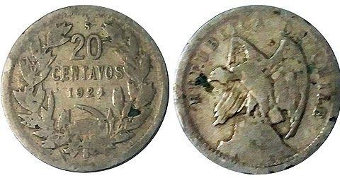 La chaucha de níquel que comenzó a emitirse en 1920. Esta moneda, además, pertenece a las curiosas series que llevaron en su sello la ima...