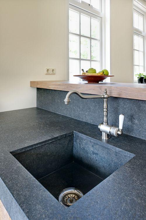 Achterwand Keuken Zonder Bovenkastjes : Landelijk Modern Keuken : Landelijk moderne eiken keuken met zeer