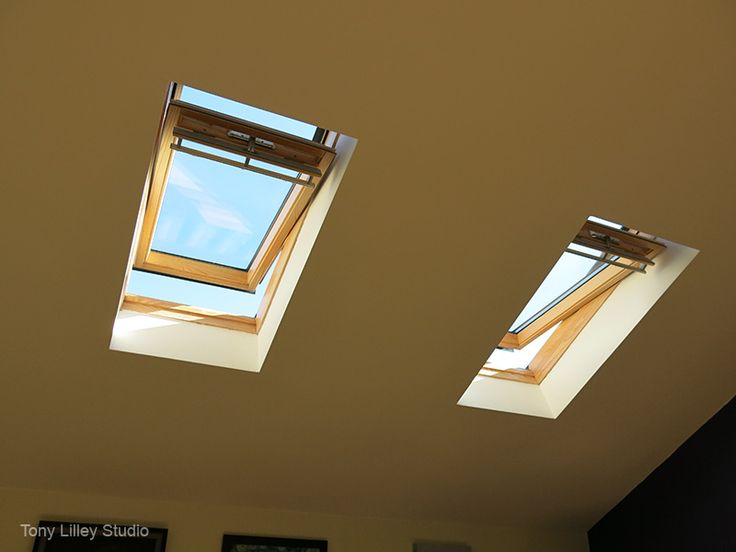 skylight windows in my new studio in bury st edmunds