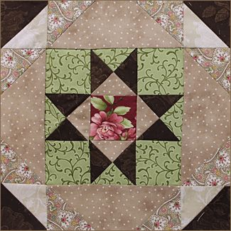 Quilted Treasures block for the 2015 Patchwork Party