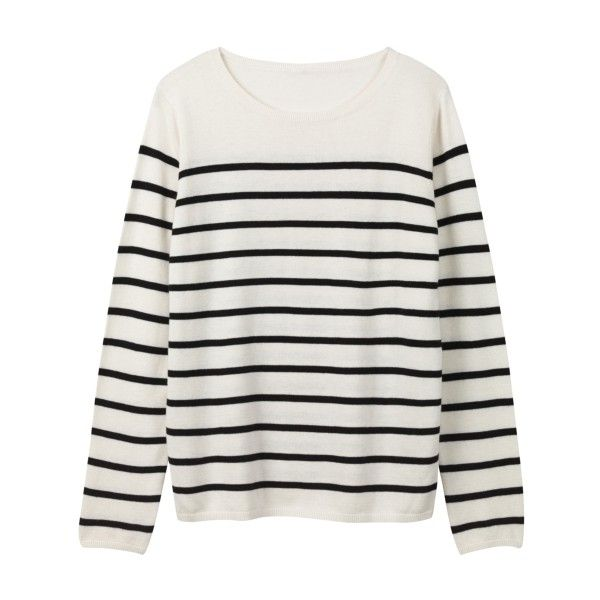 Stripe Jumper found on Polyvore featuring tops, sweaters, tops/outerwear, stripe sweater, navy striped sweater, striped sweater, grey striped sweater and layered sweater