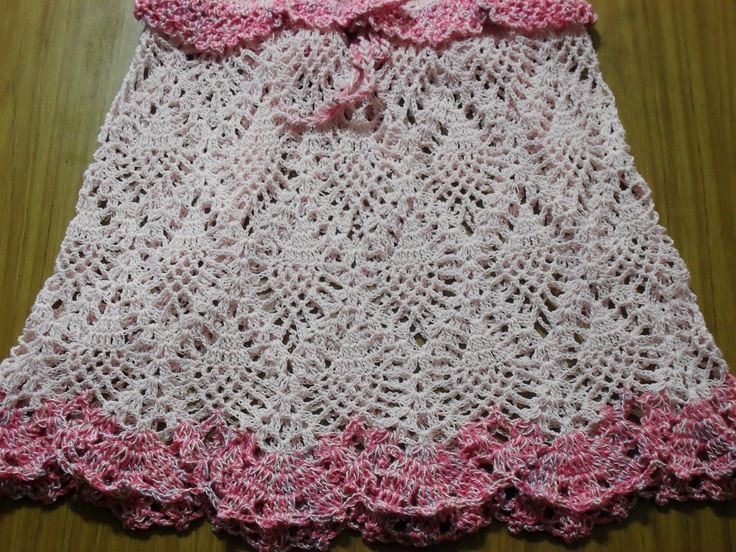 Vestido tejido a crochet punto piña - Imagui
